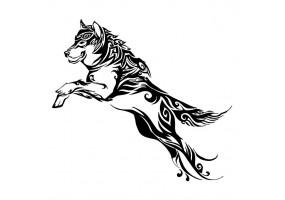 Sticker tribal chien