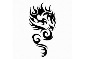Sticker tribal dragon