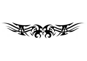 Sticker tribal moto