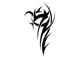 Sticker tribal noir