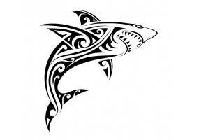 Sticker tribal requin