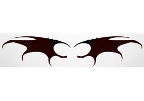 Sticker diable ailes noir
