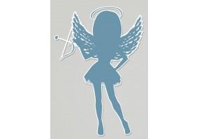 Sticker diable ange bleu