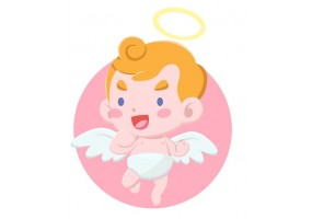 Sticker diable ange