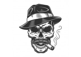 Sticker diable cigare