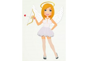 Sticker diable fille ange