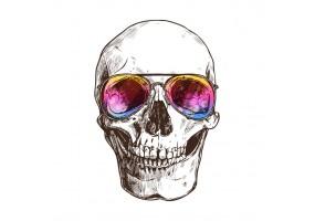 Sticker diable lunette