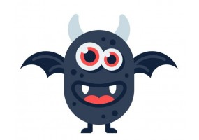 Sticker diable monstre