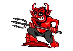 Sticker diable rouge