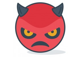 Sticker diable rouge