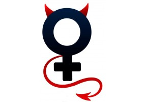 Sticker diable signe fille