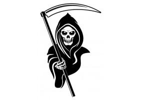 Sticker diable tête de mort