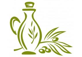 Sticker cuisine olive bouteille d'huile