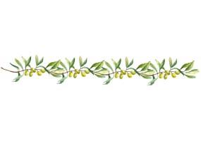 Sticker cuisine olive branche