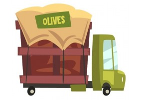Sticker cuisine olive camion