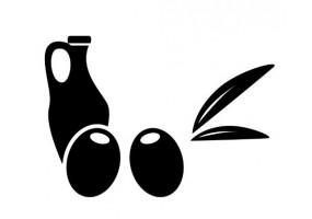 Sticker cuisine olive noir