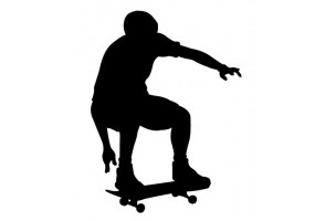 Sticker skate noir