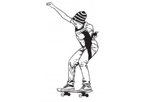 Sticker skate figure