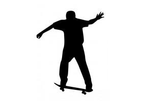 Sticker skate personnage