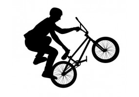 Sticker bmx noir
