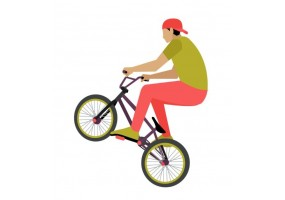 Sticker bmx coloré
