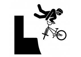Sticker bmx figure