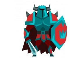 Sticker fantastique chevalier