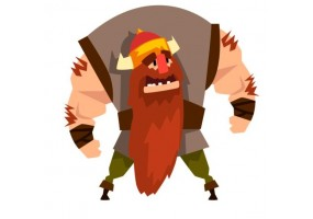 Sticker fantastique viking