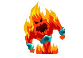 Sticker fantastique monstre feu