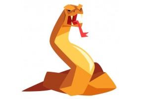 Sticker fantastique monstre serpent