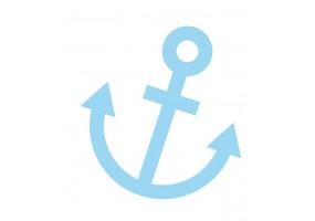 Sticker Australie ancre bleu