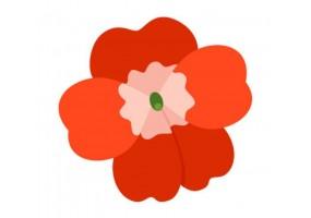Sticker Australie fleur rouge
