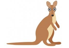 Sticker Australie kangourou
