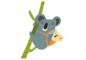 Sticker Australie koala bambou