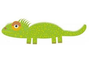 Sticker Australie caméléon vert