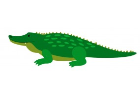 Sticker Australie crocodile