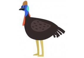 Sticker Australie oiseau