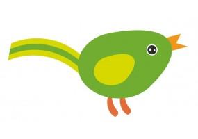 Sticker Australie oiseau vert