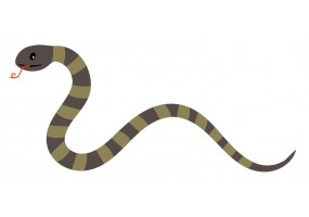 Sticker Australie serpent
