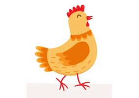 Sticker fromage poule