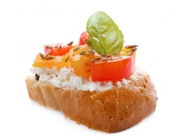 Sticker fromage tartine tomate