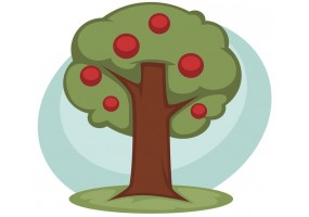 Sticker fromage arbre a fruit