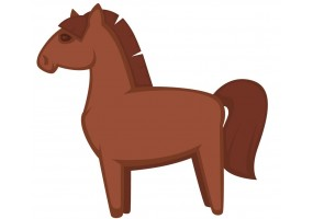Sticker fromage cheval
