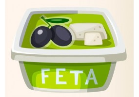 Sticker fromage fêta