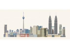 Sticker skyline  Kuala Lumpur