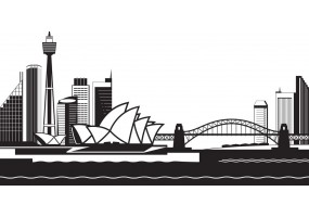 Sticker skyline Sydney