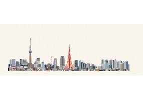 Sticker skyline Tokyo