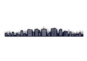 Sticker skyline