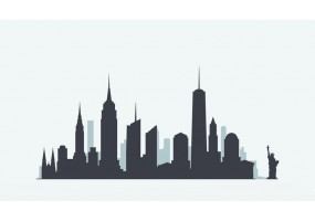 Sticker skyline New York