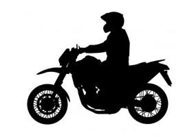 Sticker garçon moto noir